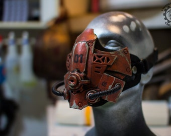 Xenogeist - Cyberpunk dystopian mask ''Fracture'' Variant. - Ready to ship