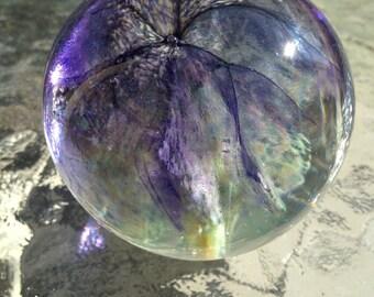 Mountain Meadow - handmade art glass paperweight
