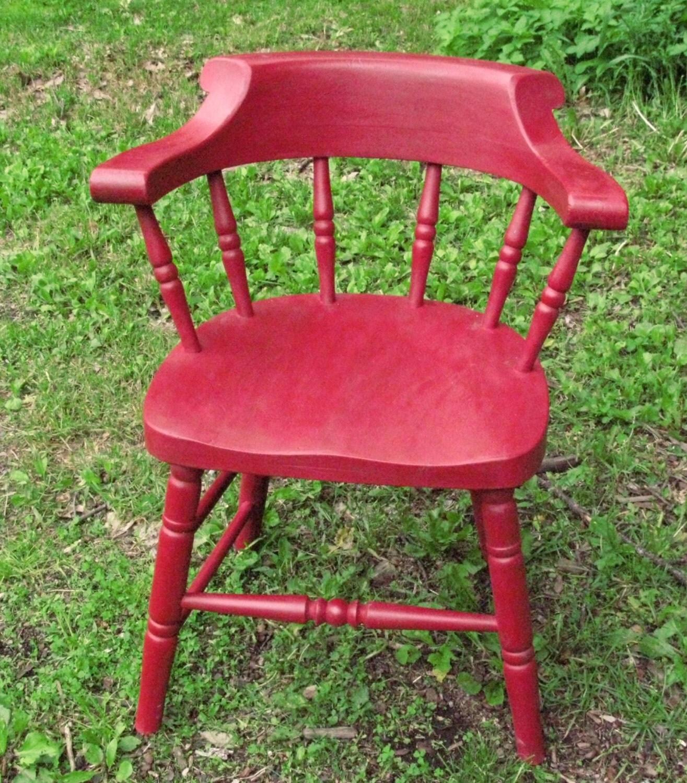 old low back windsor chair painted red. Black Bedroom Furniture Sets. Home Design Ideas