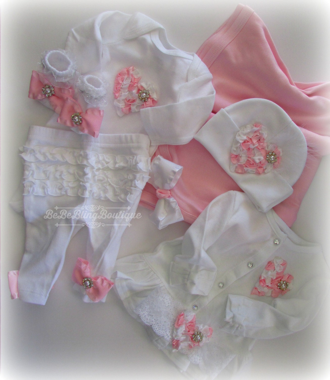complete newborn clothing set baby girl take me home outfit