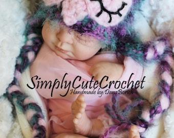 sleepy owl baby hat, crochet baby hat, photograpy prop,fuzzy owl hat, owl hat