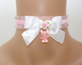 Cat Choker-Kitty Choker-Lolita Choker-Fairy Kei Choker-Kawaii-Lolita Accessories-Women Choker-Harajuku-Gift For her-Christmas Gift