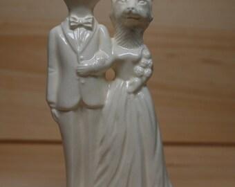Bunny Weds Fox Wedding Cake Topper