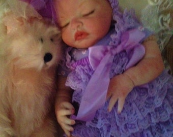 Completed Reborn Baby Doll Jessica From the Londyn Kit  20 inch Completed Doll with Magnetic Pacifier