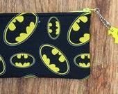 Batman Pouch Purse with Keychain
