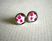 Roses Stud Earrings : Retro Print Jewelry