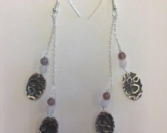 Silver PMC earrings