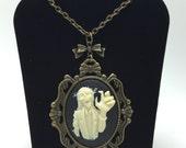 Zombie Necklace, Steampunk Necklace, Goth Necklace, Cameo Necklace, Rockabilly Necklace, Nautical Necklace