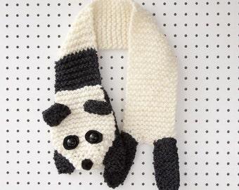 Knitting Kit: Beginners Super Chunky Panda Scarf Pattern and Yarn