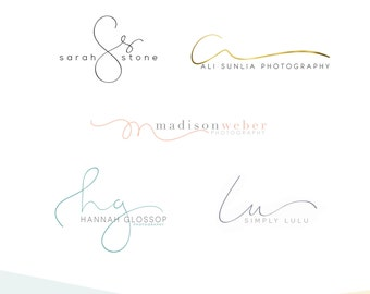 Custom Hand Written Initial Logo - Logo Design - Calligraphy - Photography Logo - Small Business Logo - OOAK