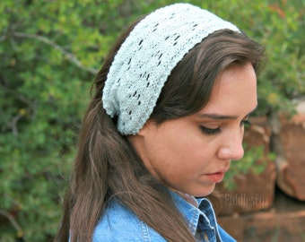 Hand Knit Headband - Hand Knitted Cowl - Lace Headband - the JAYNE headband (adult size) Womens Spring Fashion