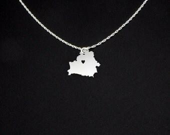 Belarus Necklace - Belarus Jewelry - Belarus Gift