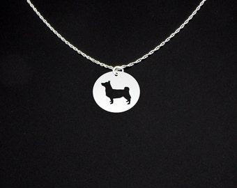 Swedish Vallhund Necklace - Long Tail - Swedish Vallhund Jewelry - Swedish Vallhund Gift