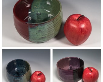 Made to Order -  Pottery Apple Baker Dish - Custom - Choose your Color- ceramics - pottery - stoneware- ceramics - pottery - stoneware