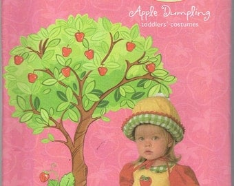 Strawberry Shortcake Apple Dumpling Toddler's Costume. Girl's Dress Pattern Simplicity 4773 Size A: 1/2-4 Uncut Factory Folded.