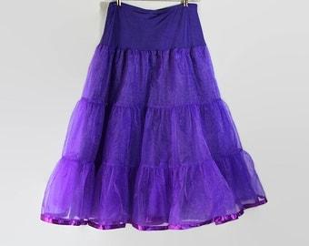 Purple Petticoat, Plus Size Lingerie, Full Length Crinoline, Costume Cosplay Steampunk