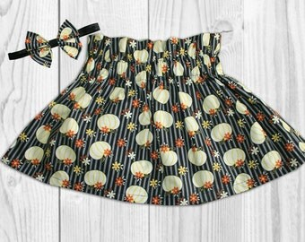 Thanksgiving Outfit for Girls - Girls Fall Outfit - Toddler Girls Skirt - Baby Girl Thanksgiving Outfit - Baby Skirt - Fall Bow - Skirts