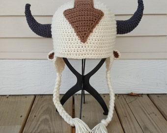 Appa the Flying Bison Inspired Hat from Avatar the Last Airbender (Newborn-Adult)