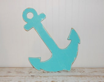 "Large Anchor Sign Wedding Guestbook Alternative 24"" Wall Decor Nautical Decor Beach"