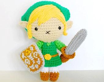 Link - Amigurimi Doll Inspired in the Zelda games