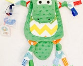 Baby Mini Lovey blanket Alligator Pacifier Teether Toy Buddy