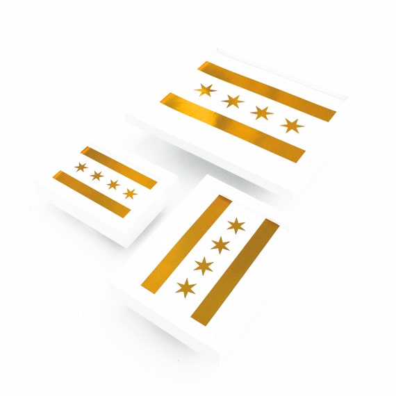 Chicago Flag Print, Gold Chicago Flag, Chicago Flag, Chicago Print, Chicago Art, Chicago Flag Art, Chi-Town, Moving To Chicago, Chicago Art
