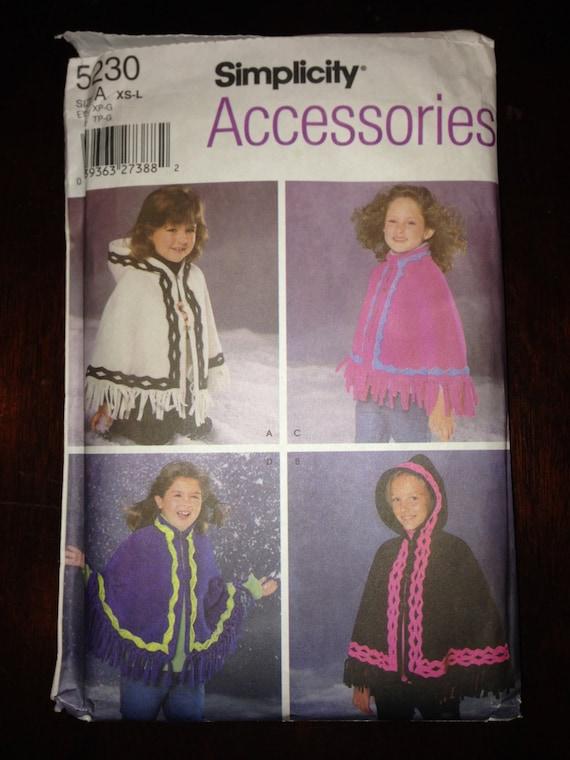Simplicity Accessories Sewing Pattern 5230 Girls Pochon Size XS-L