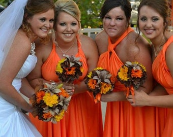 Fall Wedding Bouquet- Tiger Lily Bouquet, Fall Bridal Bouquet- Custom Order