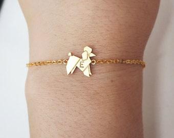 dog bracelet, Personalized bracelet,animal,initial bracelet, Personalized Jewelry, friendship bracelet, christmas gift,poodle bracelet