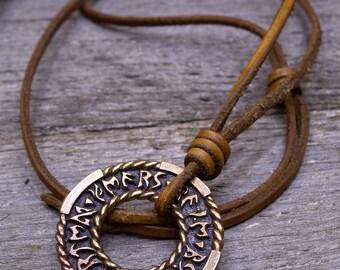 Bronze Pendant Runic Circle