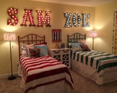 "36"" Huge  Marquee Lighted Sign Letters Wood........A B C D E F G H I J K L M N O P Q R S T U V W X Y Z"