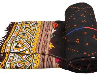 Genuine Vintage Kutch Rabari Banjara Shawl Woolen Odhni EM71