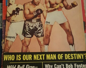 1967 Cassius Clay boxing magazine - Muhammad Ali - original vintage The Ring