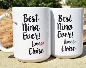 Spanish Godparent NINA or NINO Mugs, Godparent BAPTISM Gift from Godchild, Filipino, Chamarro Godparents