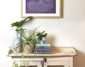 Purple and White Archival Art Print 'Wisteria Wave'