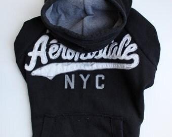Black Aeropostale Upcycled Dog Sweater (M/L)