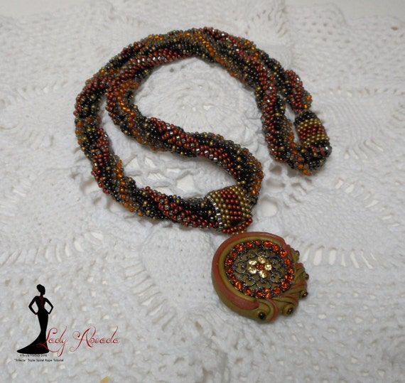 """Beading tutorial seed bead Triple Spiral Rope """"Trifecta"""" INSTANT DOWNLOAD"""
