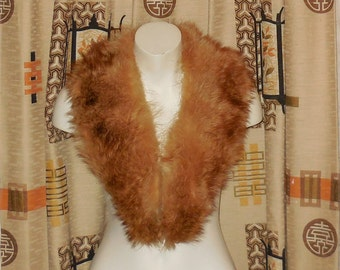 SALE Vintage Raccoon Fur Collar 1950s Blonde Raccoon Fur Collar Fur Stole Fur Wrap Reddish Raccoon Fur Scarf Satin Lining 40 inches
