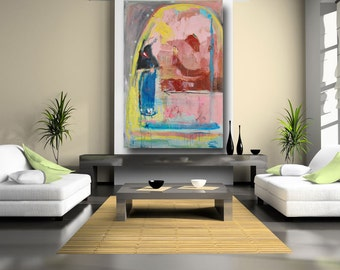 Home and Living Abstract Art home decor Large Wall Art original painting gallery art colorful home decor, wall art, home & living
