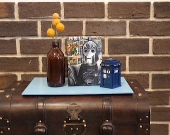 Mini Canvas of The Cyberman from Doctor Who