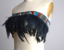 SUMMER SALE Festival Feather Top - Burning man Clothing - Native American Inspired - Hippie - Festival Fashion - Festival Clothing