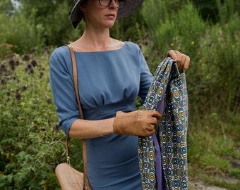 SALE Infinity scarf 'Violet & mustard'