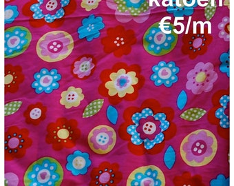 SALE Cotton Flowerprints 'Pink'