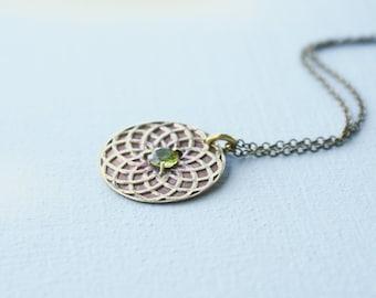 Circle of Life necklace - peridot