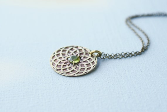 Circle of Life necklace - peridot