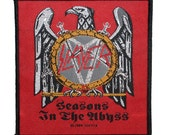 """Metal Album """"Slayer: Seasons in the Abyss"""" Band Apparel Woven Sew-On Applique Patch"""