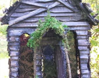 Abandoned Goth Spirit fairy house