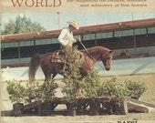 Vintage Arabian Horse World Magazine, Back Issue April 1972