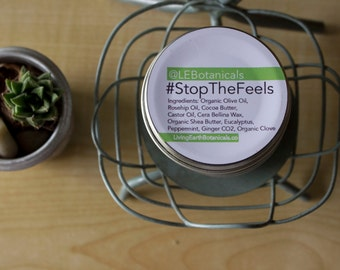 Muscle Salve, Stop the Feels, Aches and Pain Salve, Muscle Pain Balm, Sore Muscles Balm 2oz