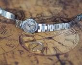 Steampunk watch , modified tiny vintage womens watch ,Skeleton watch